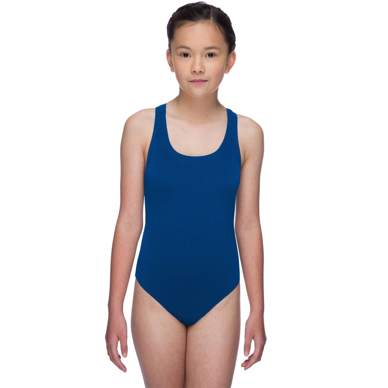 Maru Girls Solid Pacer Swimsuit Swimming Lesson Costume ...