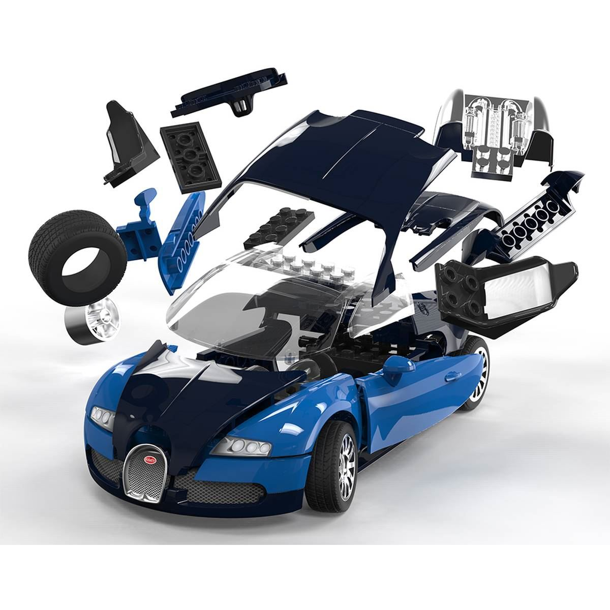airfix quick build bugatti veyron model kit car construction kids gift toy cr. Black Bedroom Furniture Sets. Home Design Ideas
