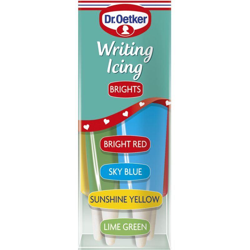 Cake Decorating Writing Gel : Dr Oetker Writing Gel Icing Bright Or Glitter Neon Cake ...