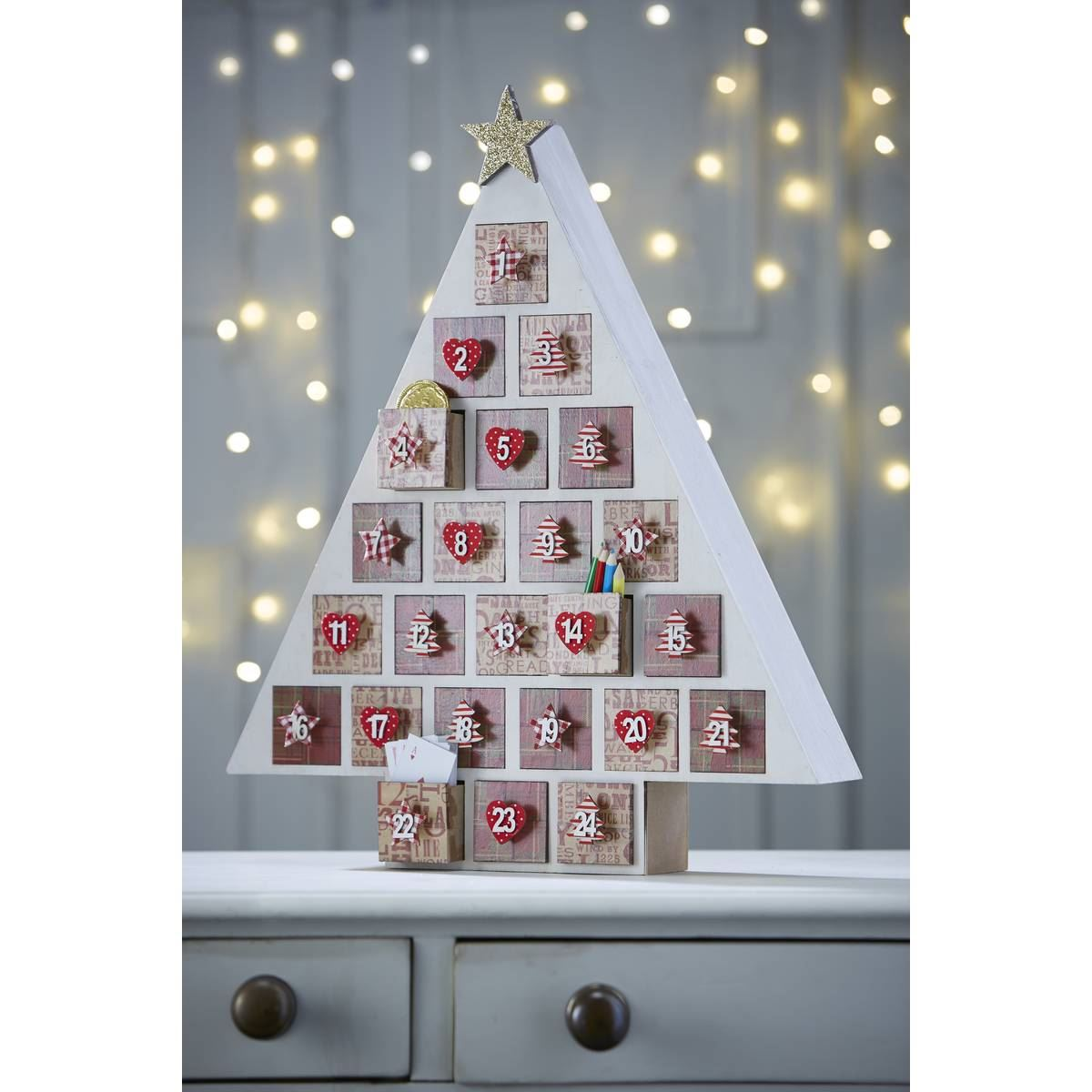 Hobbycraft Wooden Advent Calendar Christmas Tree Xmas