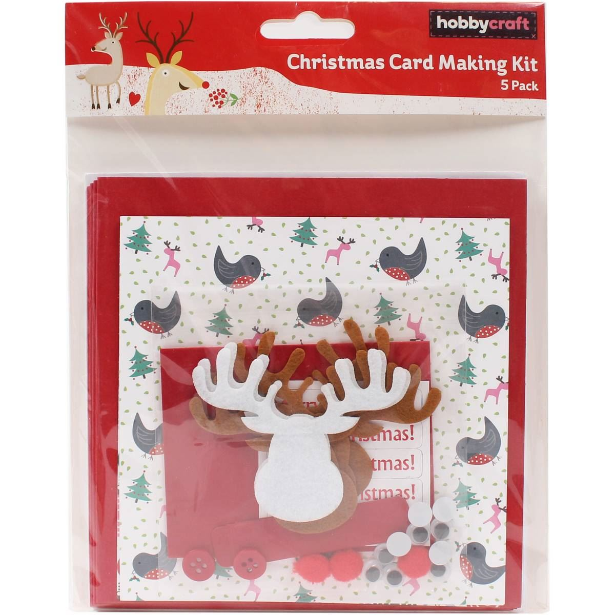 Hobbycraft christmas card making kit assorted designs for Craft supplies for card making