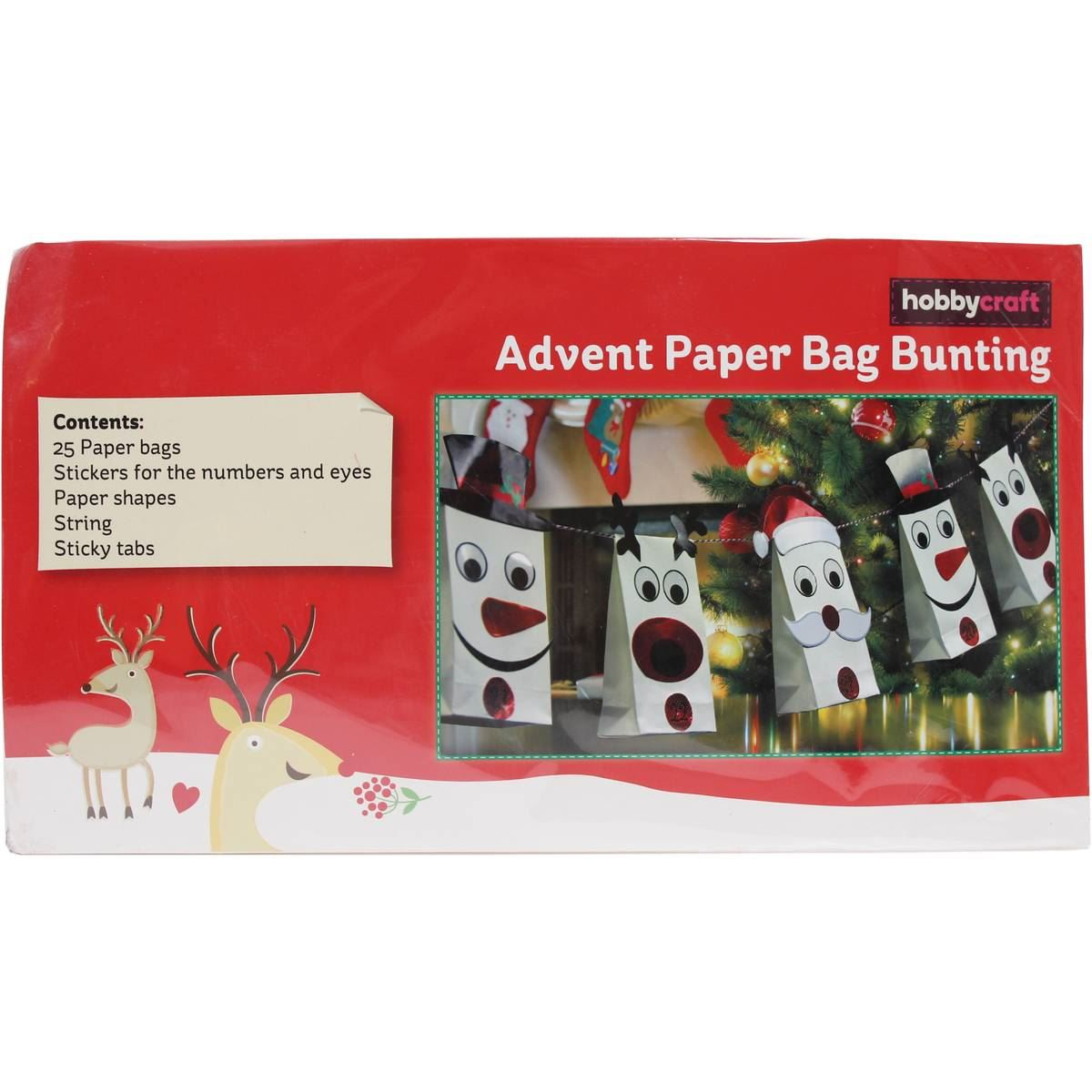 Hobbycraft make your own advent paper bag bunting 4 m Make your own christmas bunting