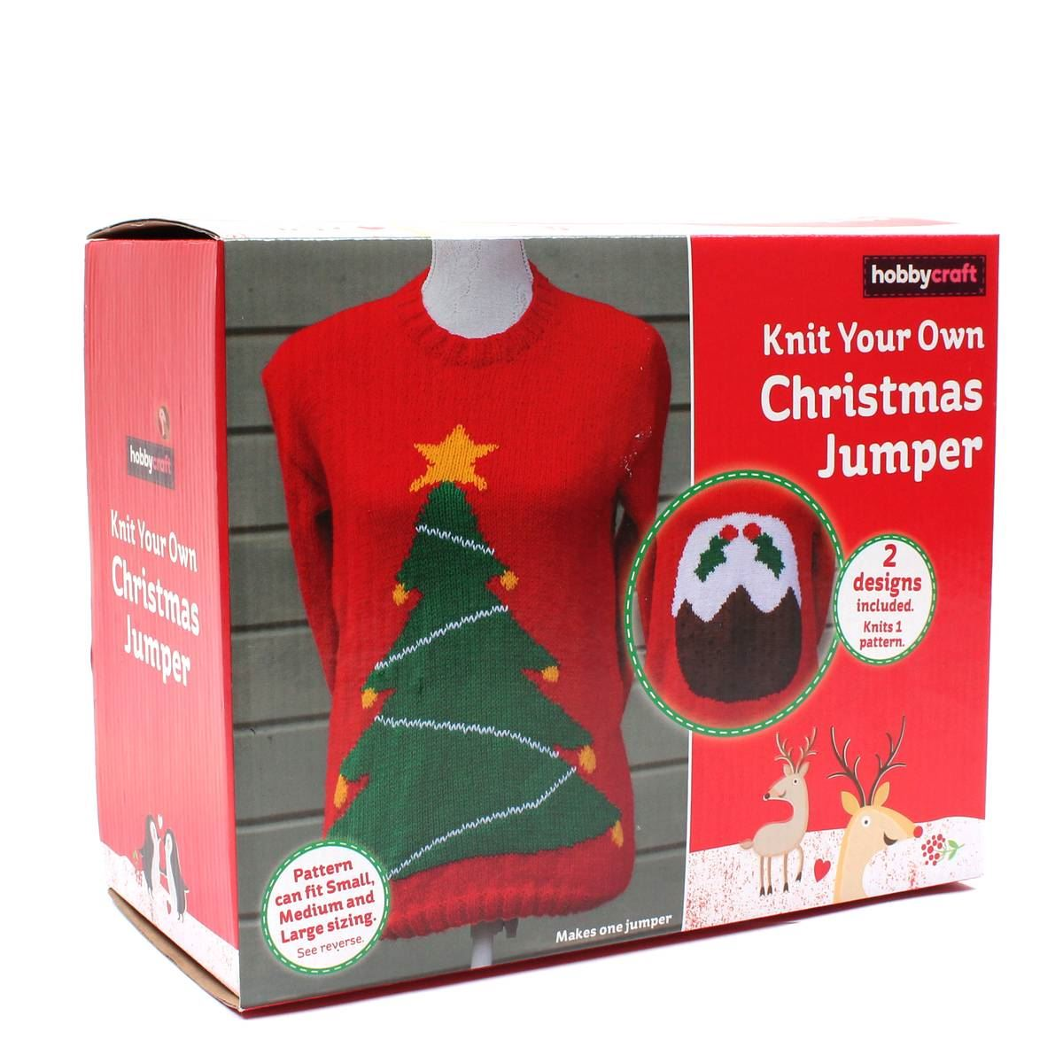 Jumper Knitting Kits Uk : Hobbycraft get crafty knit your own christmas jumper kit