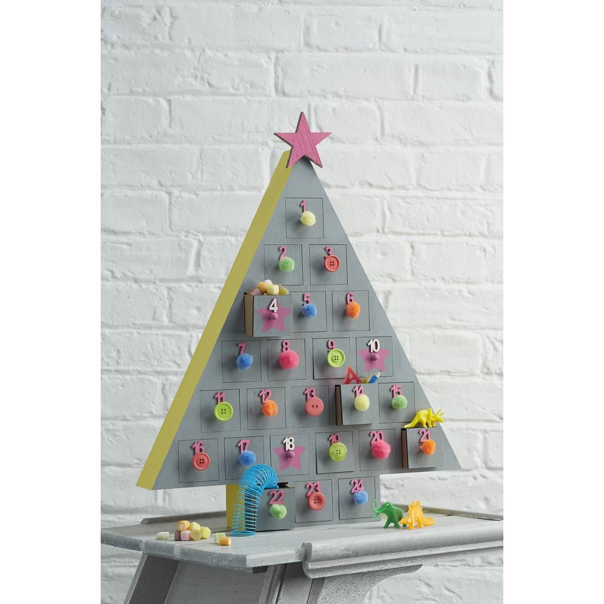 Hobbycraft wooden advent calendar christmas tree xmas How to build a wooden advent calendar