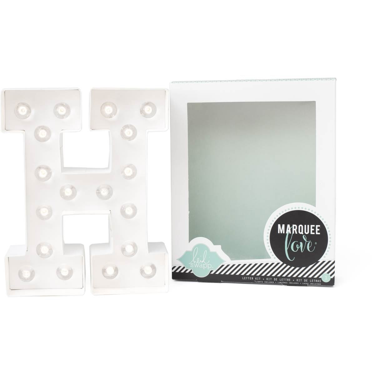 Heidi swapp 8 5 39 39 light up marquee 3d plaque alphabet for Decoration 9 letters