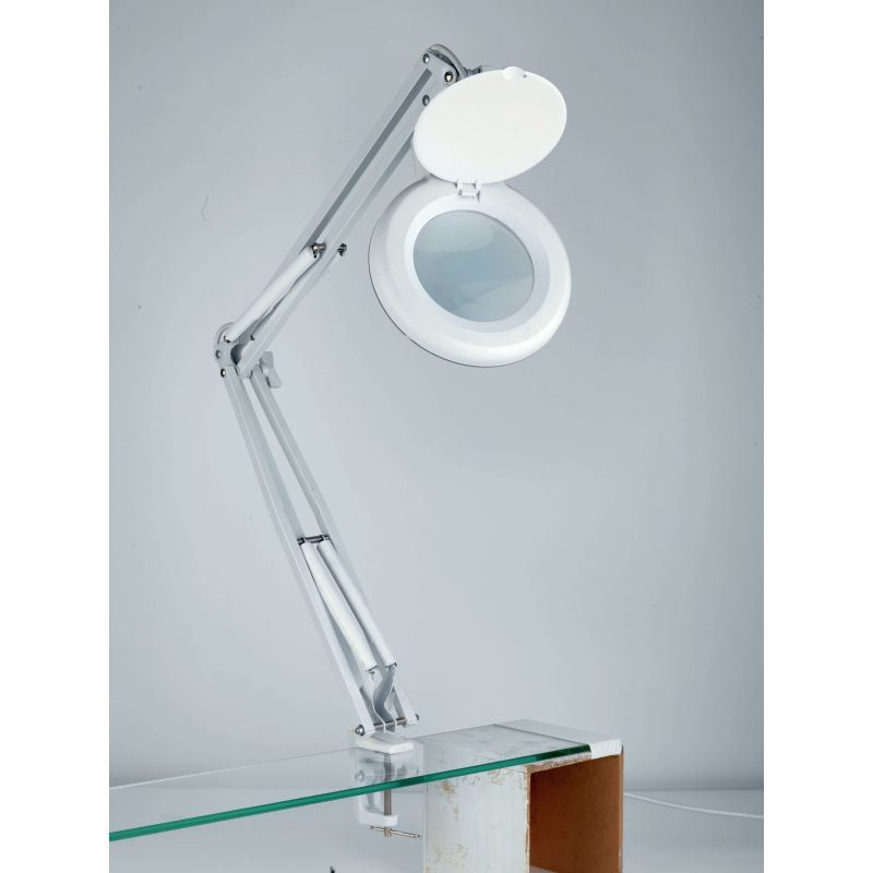 Daylight 5in home office reading craft sewing magnifying for Craft light with magnifying glass