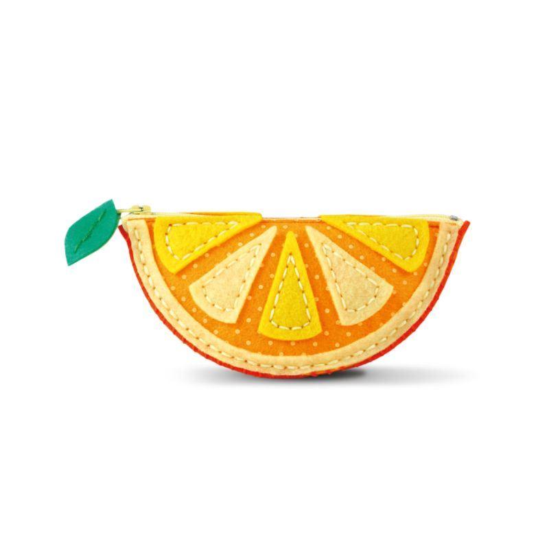 Hobbycraft Make Your Own Felt Purse Kit Orange or Apple Children Craft 8+ Toy