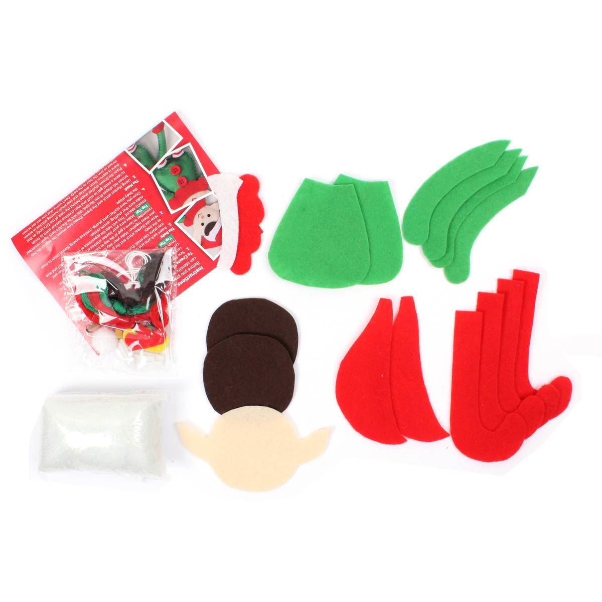 Decorating Ideas > Hobbycraft Christmas Elf Felt Sewing Kit Decoration DIY  ~ 074301_Christmas Decoration Craft Kits