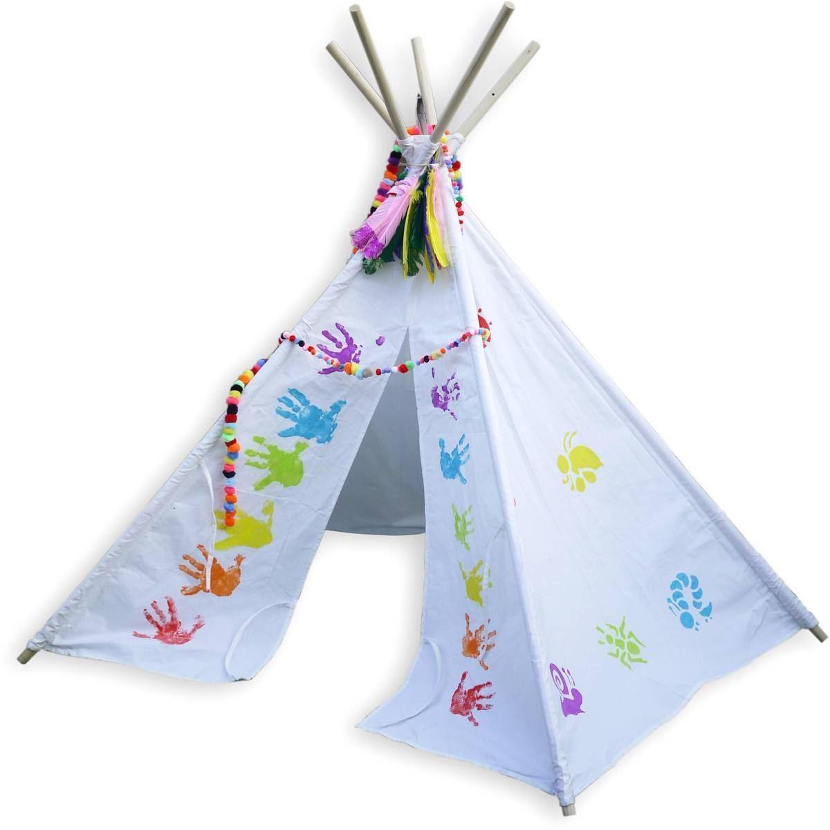 Childrens Kids Teepee Play Tent Indoor Outdoor Large 140 x ...