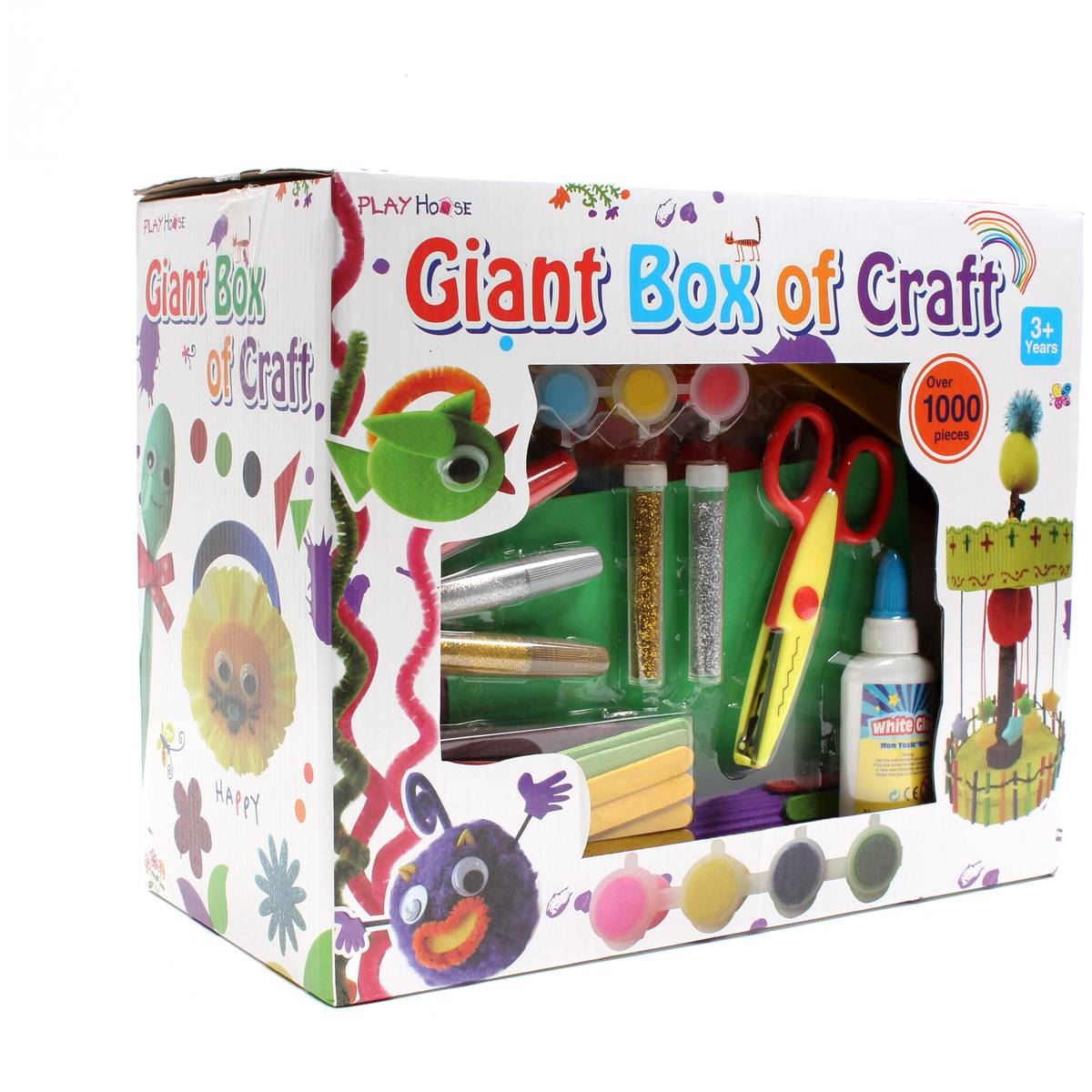 Hobbycraft childrens giant box of craft 1000 pieces glue for Craft boxes for children