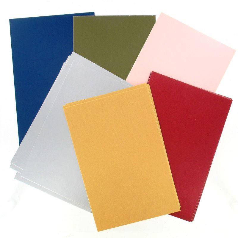 Metallic paper sheets