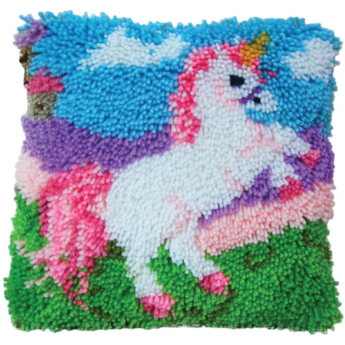Hobbycraft Latch Hook Kit 13 X 13 In Cushion Cover Rug