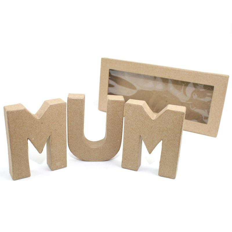 hobbycraft paper mache kit 10cm mum dad letters