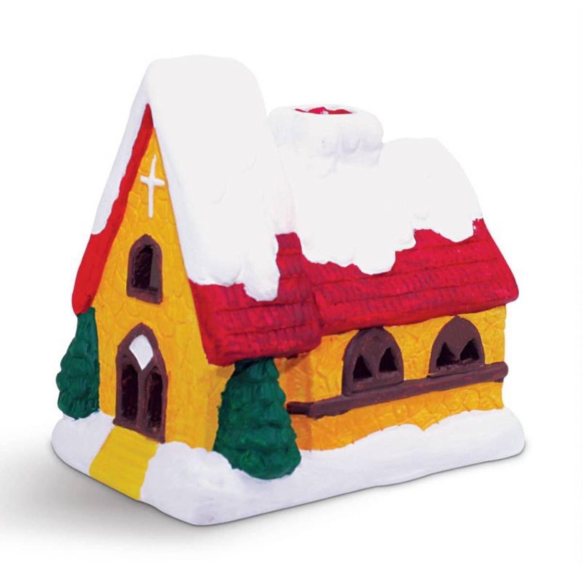 Hobbycraft Paint Your Own Led Tea Light Holder Church Kit Christmas Kids Craft Ebay
