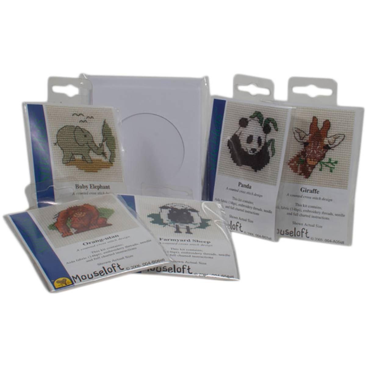 mouseloft stitchlets mini cross stitch kits and trifold