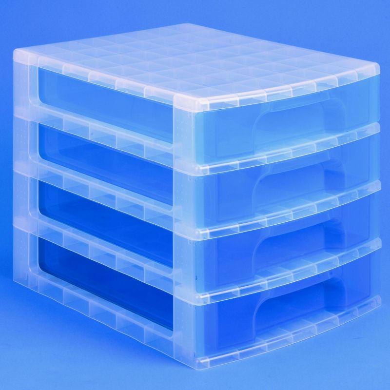 really useful desktop 4 drawer unit 20 litre plastic storage different colours. Black Bedroom Furniture Sets. Home Design Ideas