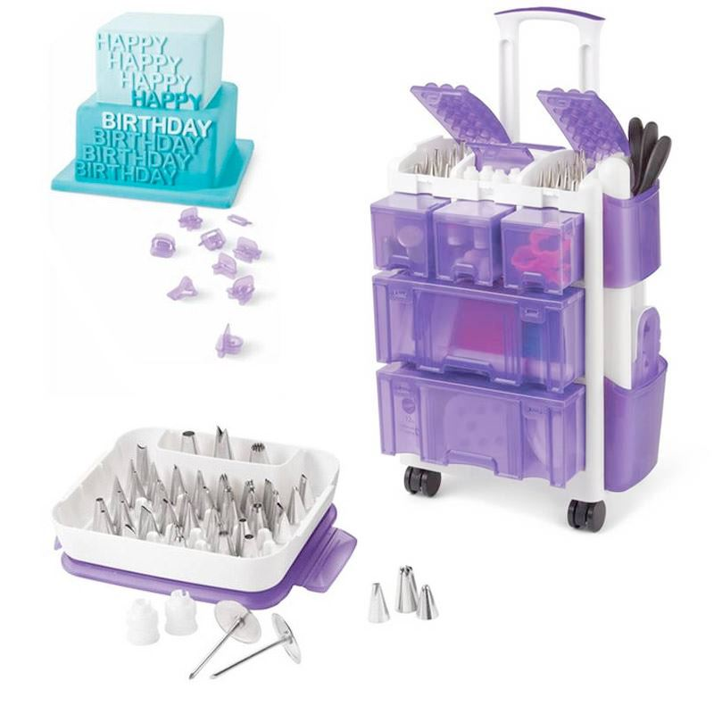 Wilton Rolling Tool Caddy And Accessories Bundle