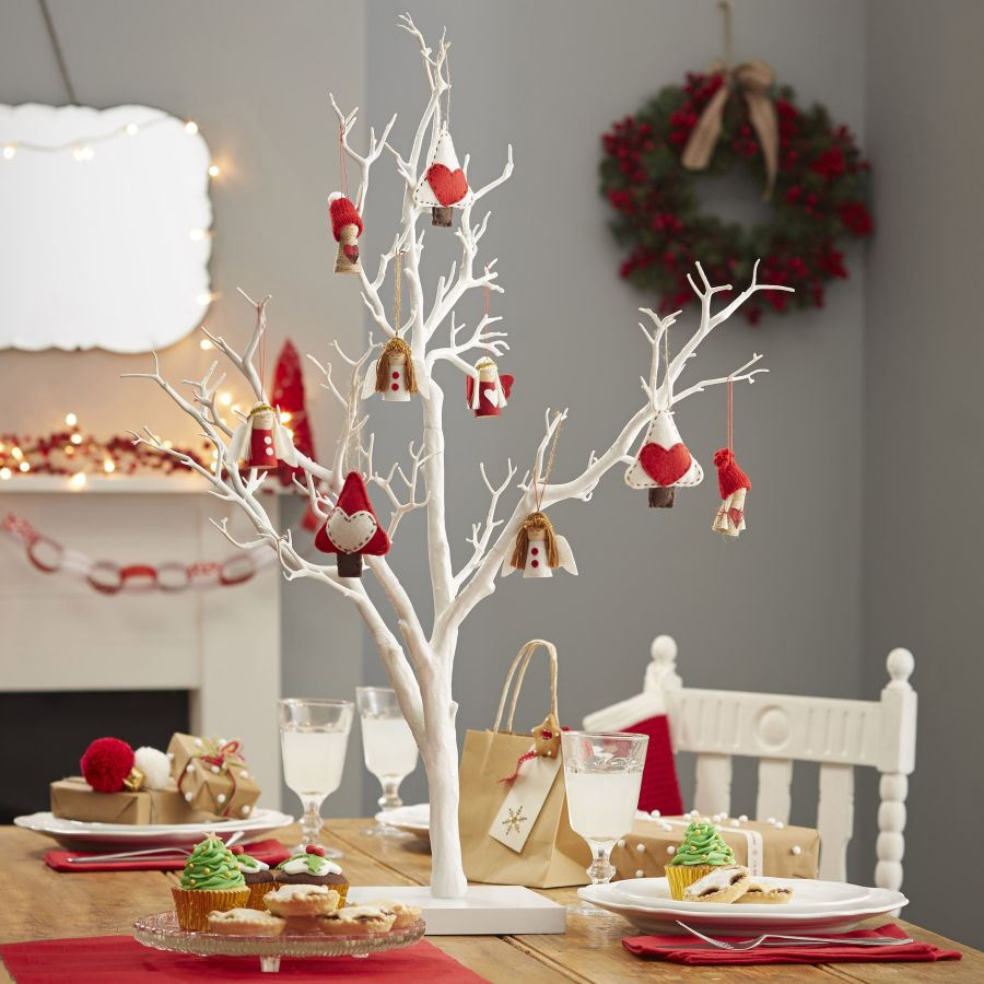 Twig display wish tree 76cm white decorative festive for Twig decorations home