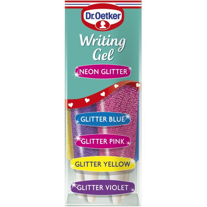 Dr Oetker Writing Gel Icing Bright Or Glitter Neon Cake ...