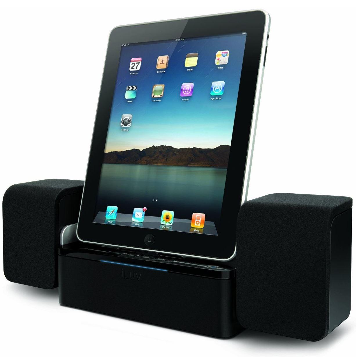 iluv imm747 audio cube docking station speaker system charging iphone ipod ipad. Black Bedroom Furniture Sets. Home Design Ideas