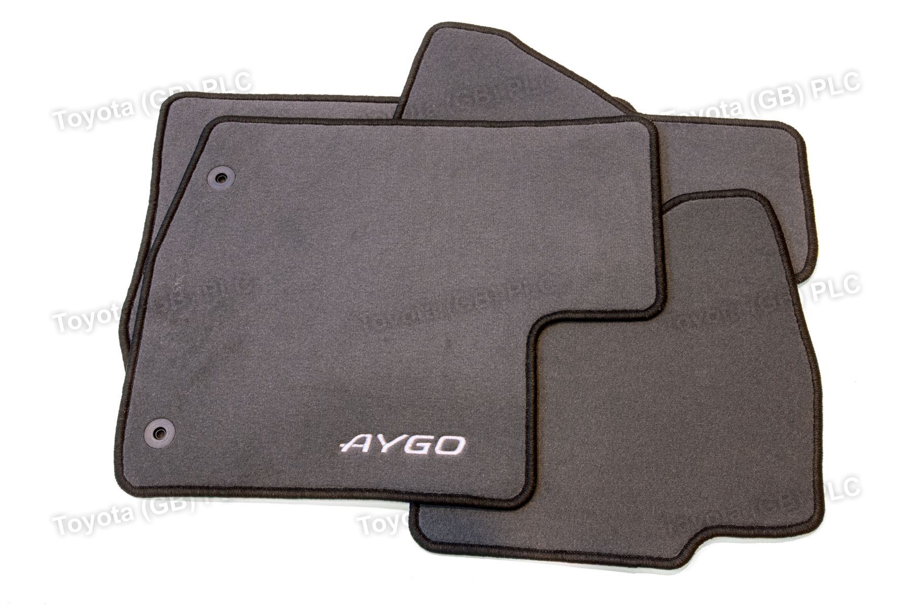 Genuine toyota 4x tailored car textile floor mats aygo 12 for Original toyota floor mats
