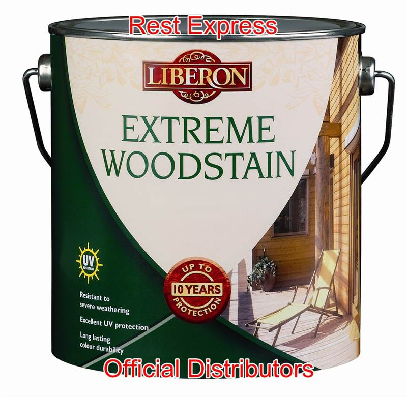 Liberon Extreme Wood Stain 2.5 Litre - All Colours - Up to 10 Year ...