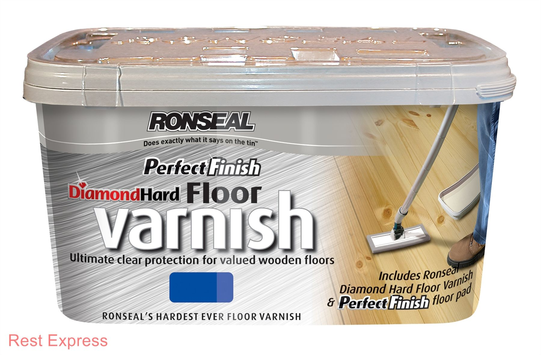 Ronseal Perfect Finish Diamond Hard Floor Varnish 2 5