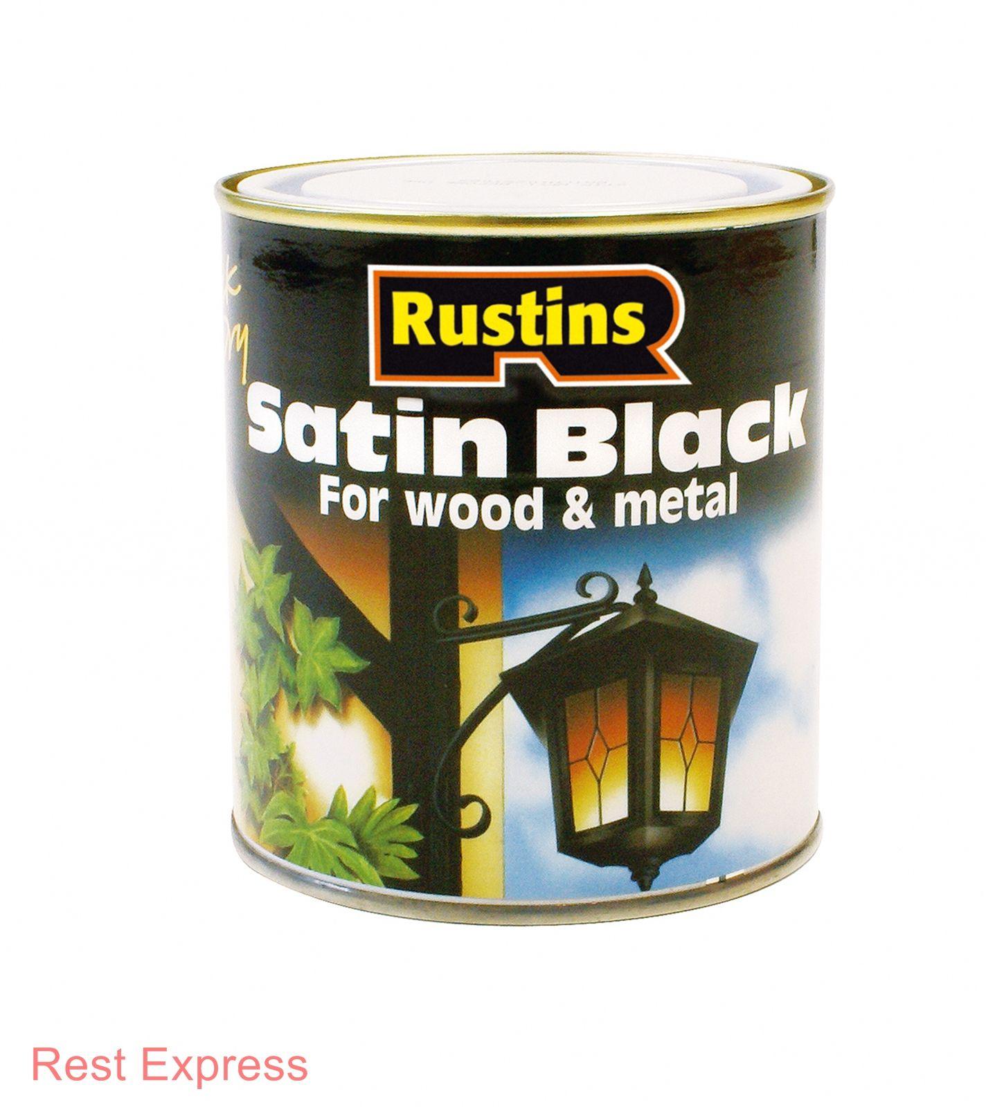 Rustins Black Paint 2 5litre 2 5l Matt Satin Interior Exterior Free Delivery Ebay