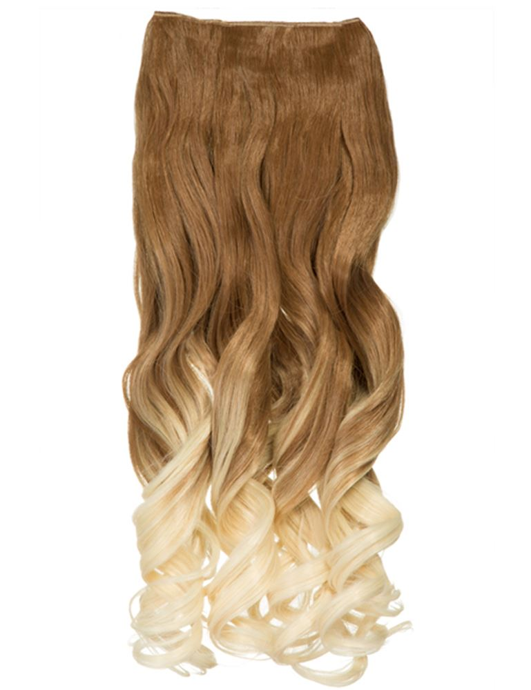 Dip Dye One Piece Synthetic Hair Extension 20 Weft Hair Piece Clip