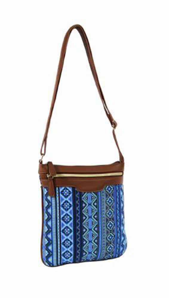 Womens holiday canvas aztec floral festival travel cross
