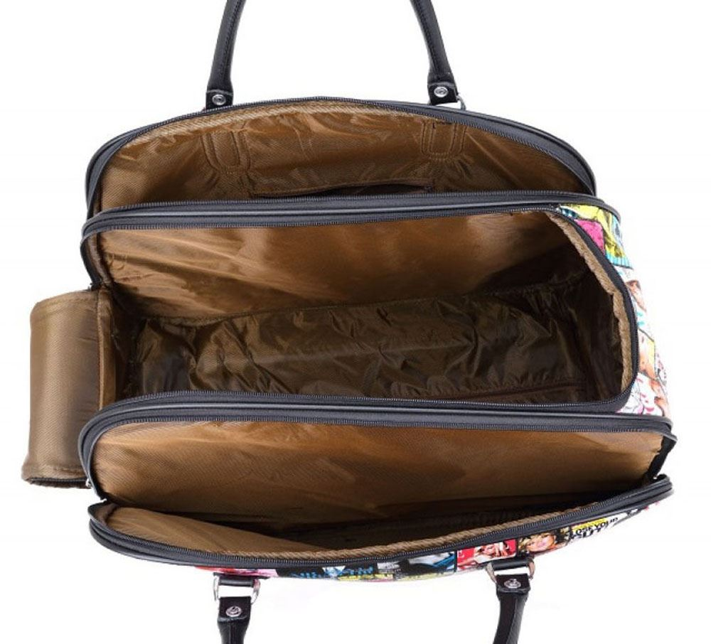 New Travel Trailers: WOMENS NEW TRAVEL SUITCASE HOLDALL MAGAZINE TEDDY PRINTED