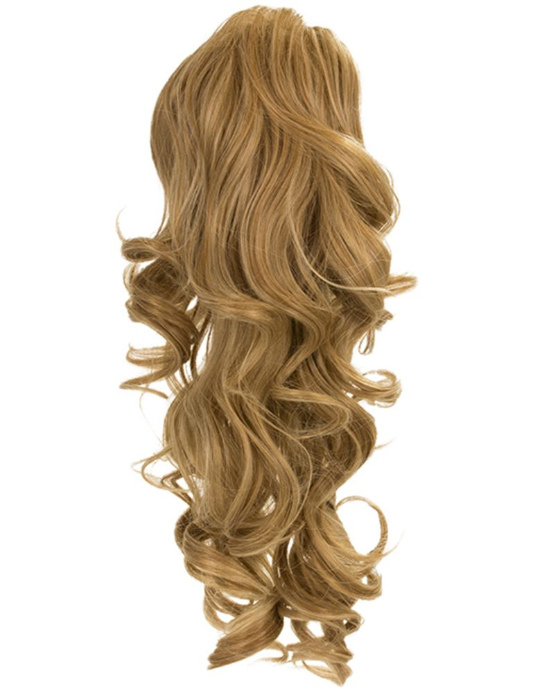 Womens Clip In Drawstring Curly Long Ponytail Hair Piece