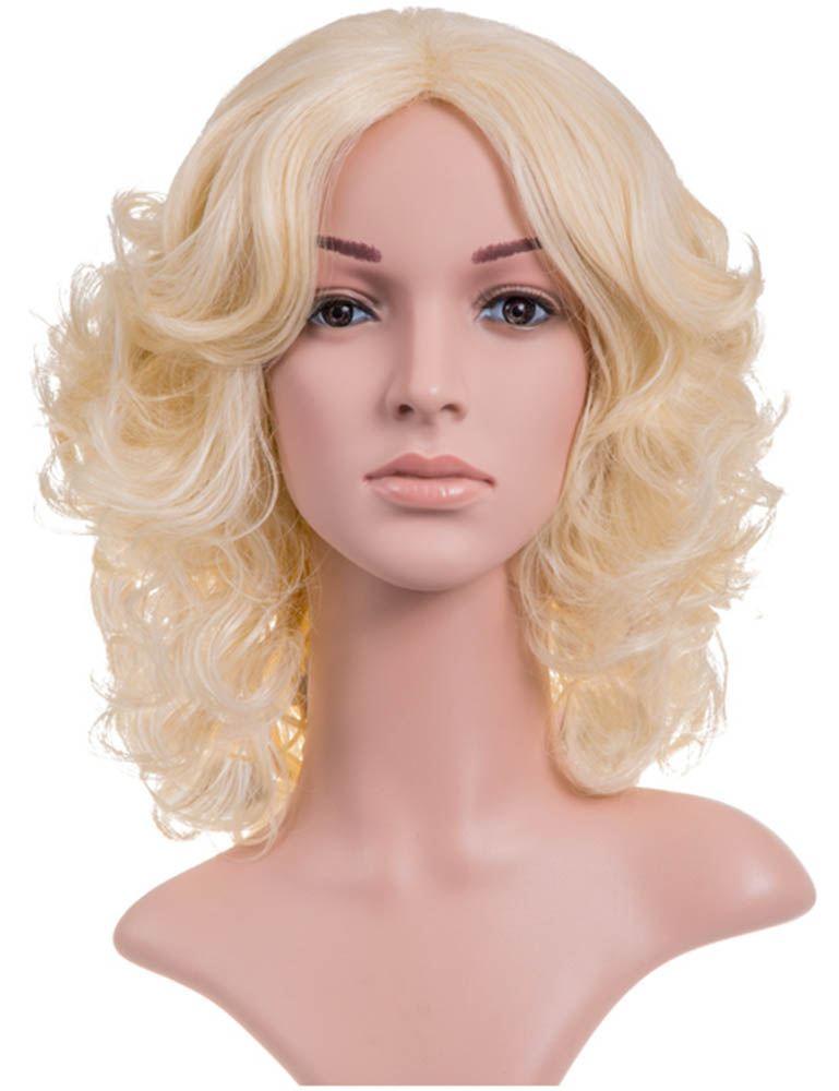 Women S Synthetic Hair Medium Length Full Head Curly