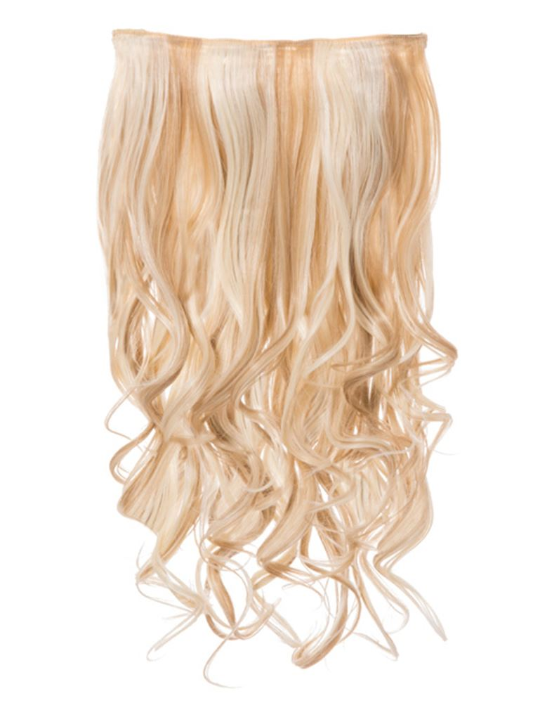 Womens Clip In Long Curly Highlights One Piece Hair Extensions Koko