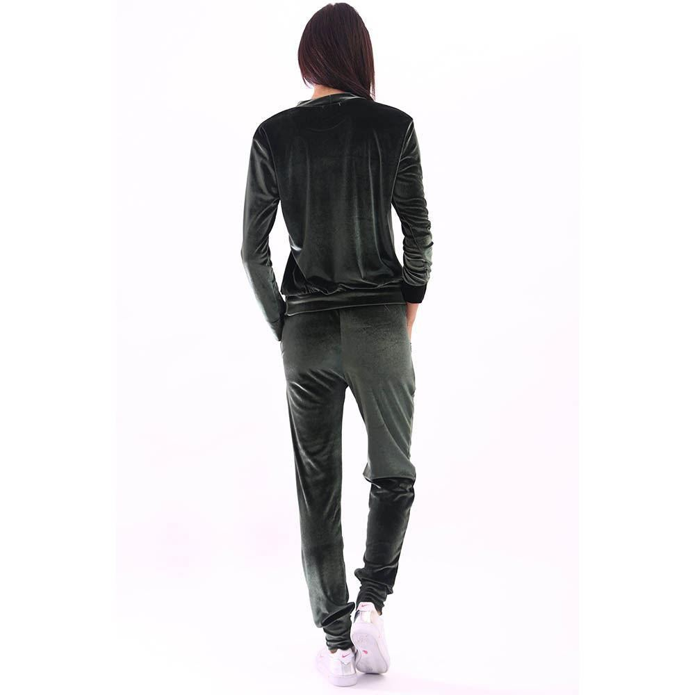 NEW LADIES VELVET VELOUR JOGGERS CUFFED SLEEVES BOTTOMS ...
