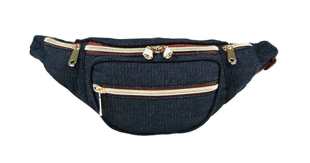 NEW LADIES CANVAS FLORAL DENIM AZTEC POLKA DOT FANNY PACK FESTIVAL ...