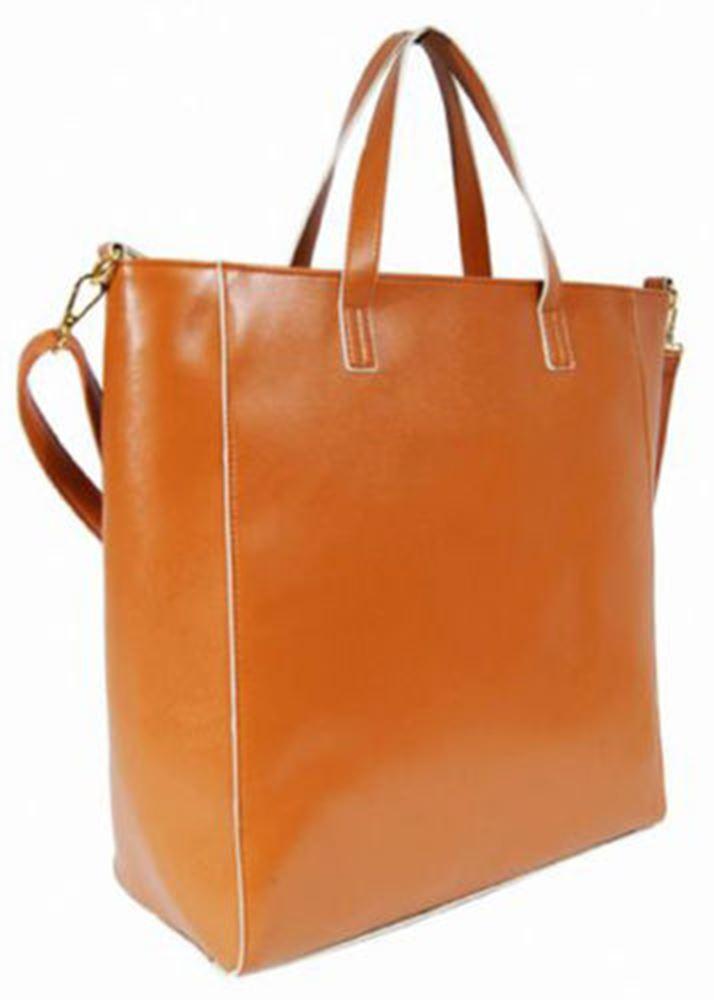 womens faux leather large tote school college a4 size shoulder hand bag ebay. Black Bedroom Furniture Sets. Home Design Ideas