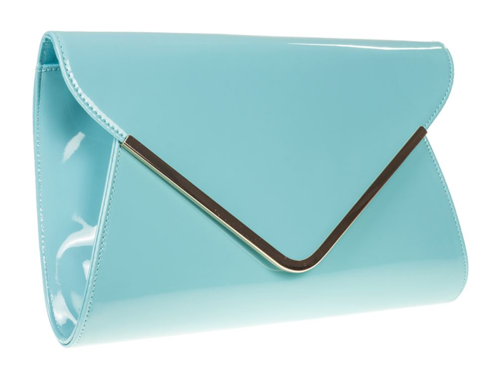 RETRO-NEON-PATENT-GOLD-WEDDING-LADIES-PARTY-PROM-EVENING-CLUTCH-PURSE-HAND-BAG