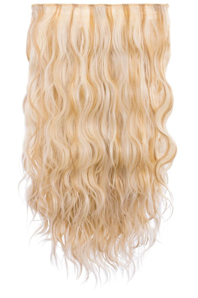 Womens Long Wavy 20 Synthetic Hair Extensions Heat Resistant 3