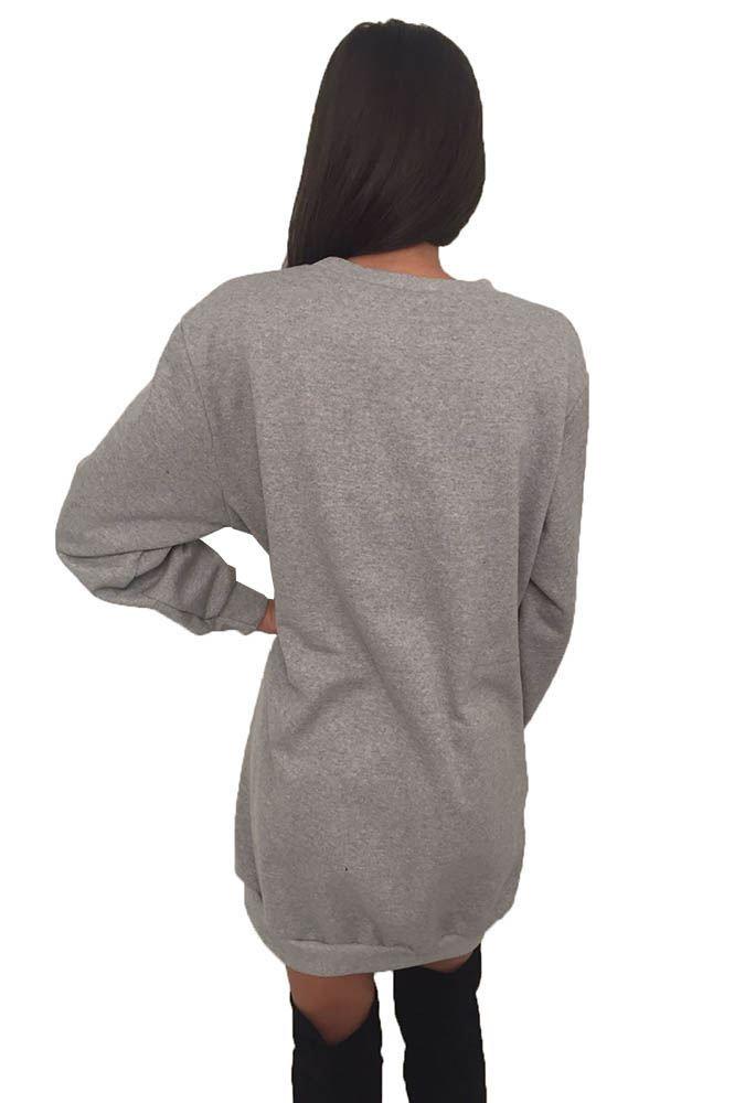Ladies Women S Long Sleeve Pockets Baggy Oversize Tunic