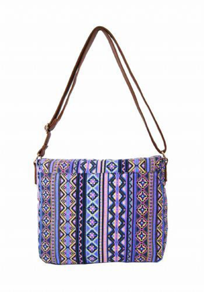 NEW WOMENS CANVAS AZTEC FLORAL HOLIDAY COLLEGE SCHOOL TRAVEL LAPTOP SATCHEL BAG