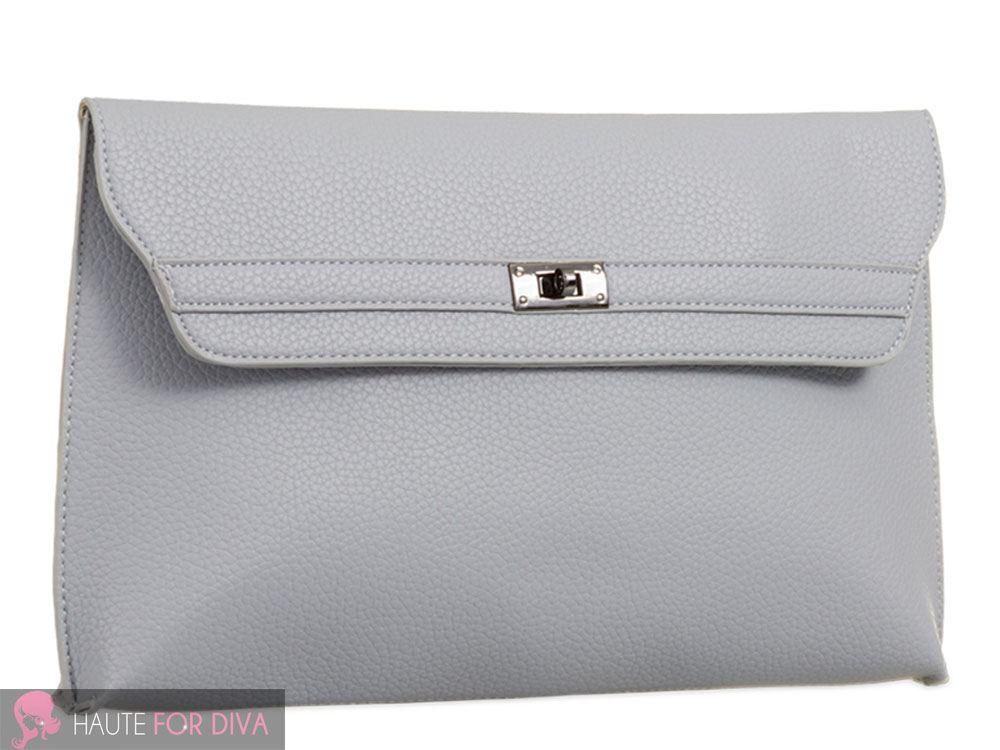 LADIES NEW FAUX LEATHER ROTATING CLASP SIMPLE SHOULDER BAG HANDBAG