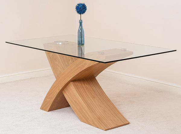 VALENCIA OAK DESIGNER MODERN GLASS DINING TABLE AND  : 14fb3d00 4217 4b99 8327 289cb32e32cc from www.ebay.co.uk size 600 x 444 jpeg 24kB