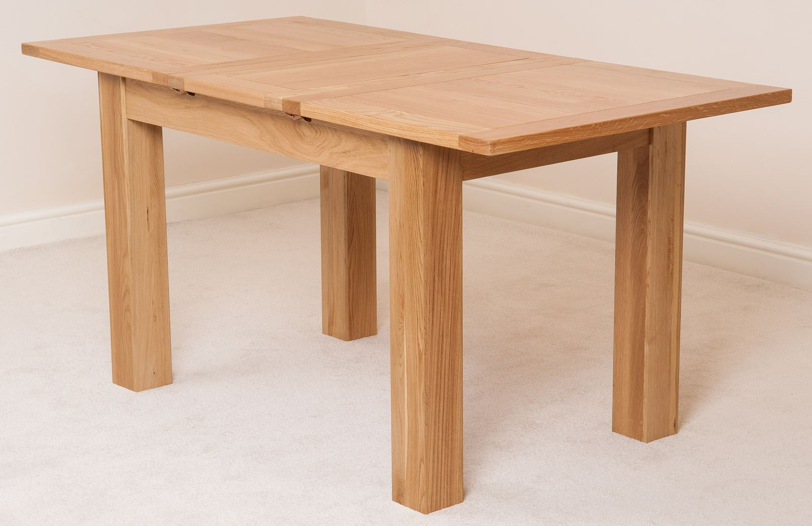 Solid Oak Dining Room Furniture ~ Hampton solid oak wood medium cm extending table wooden