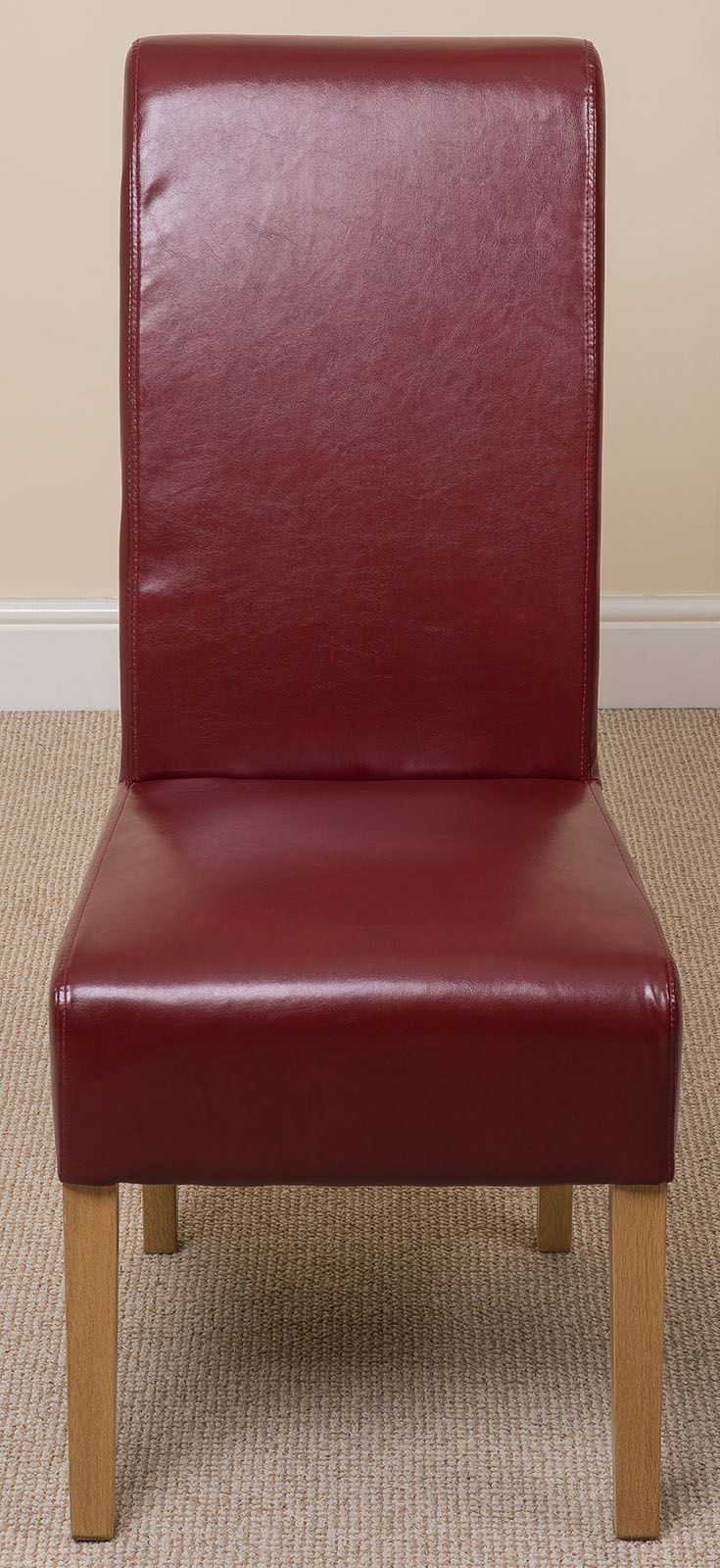 Montana Scroll Back Red Leather Dining Room Chairs Kitchen