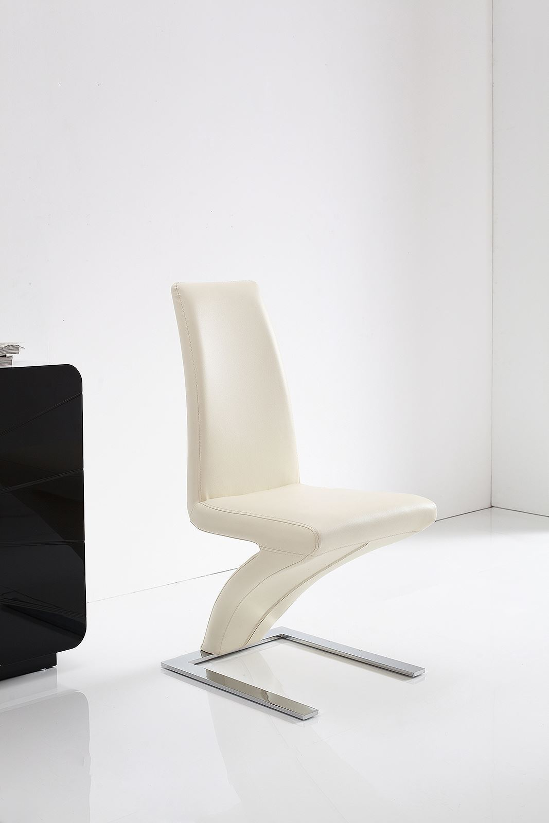 Z Ivory Faux Leather Dining Room Chairs Kitchen Furniture