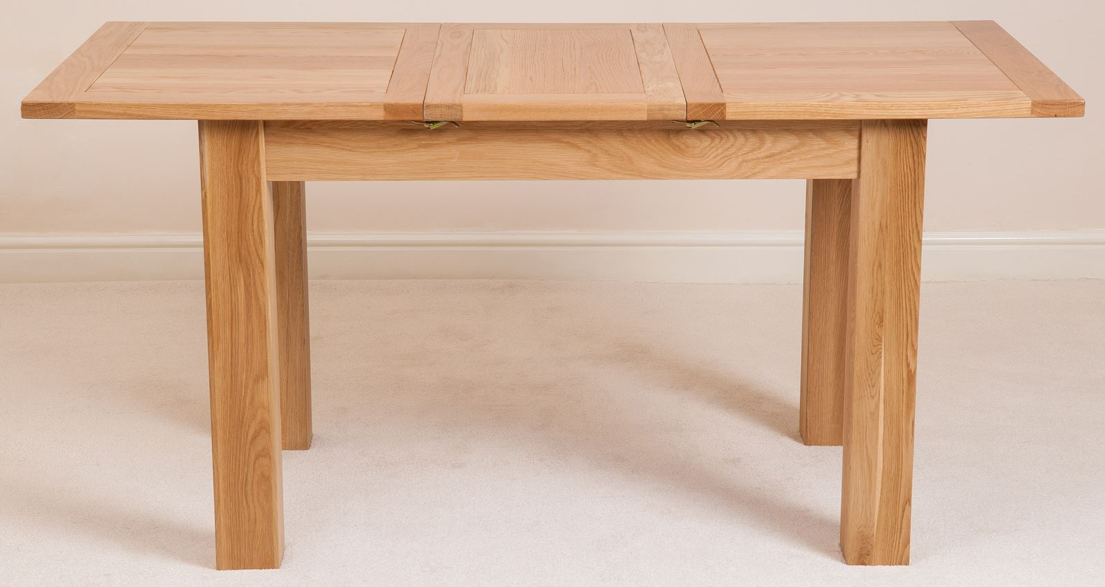 Hampton solid oak wood medium 120cm extending table wooden dining room furniture - Table 120 cm ...