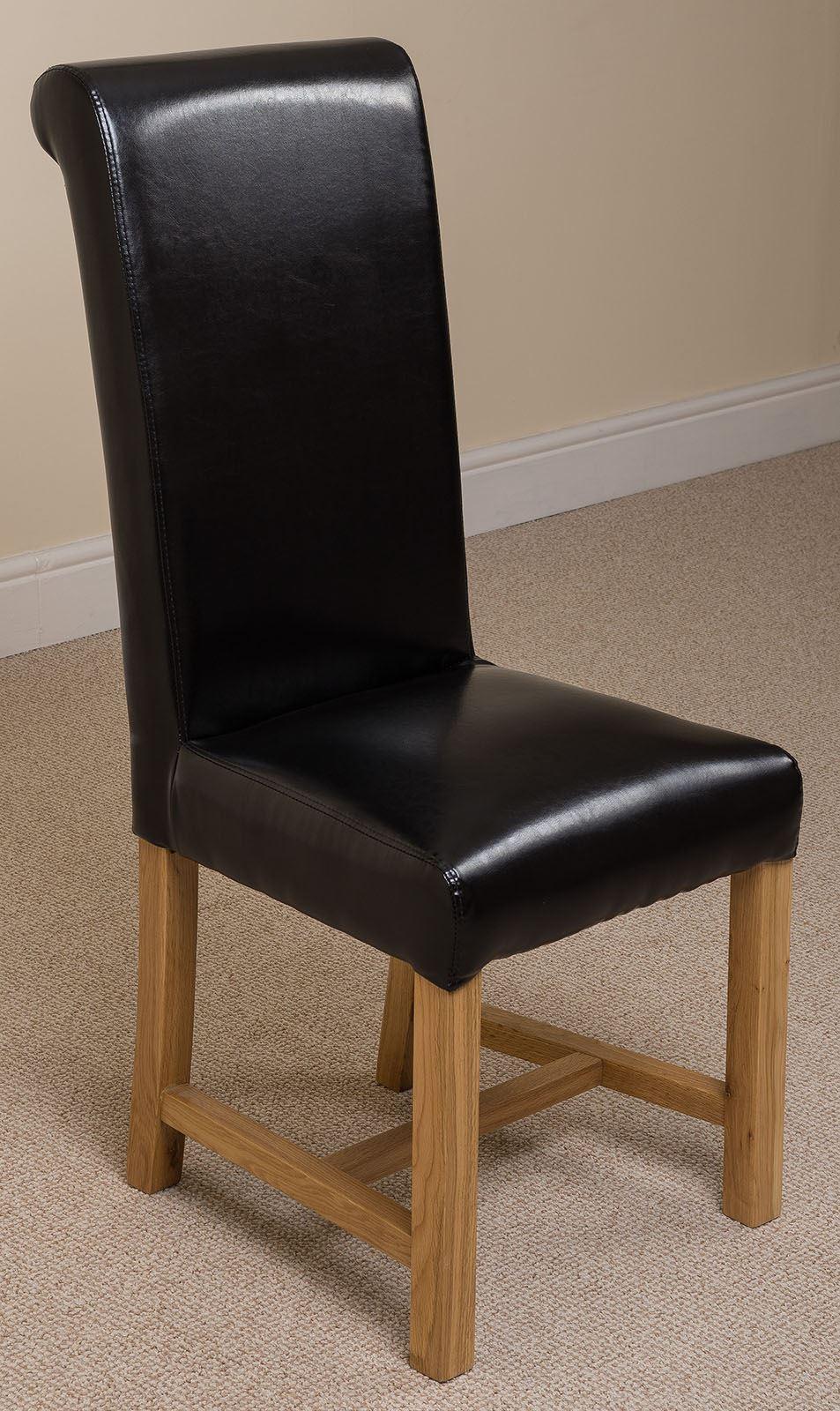 washington braced scroll back ivory leather dining room. Black Bedroom Furniture Sets. Home Design Ideas