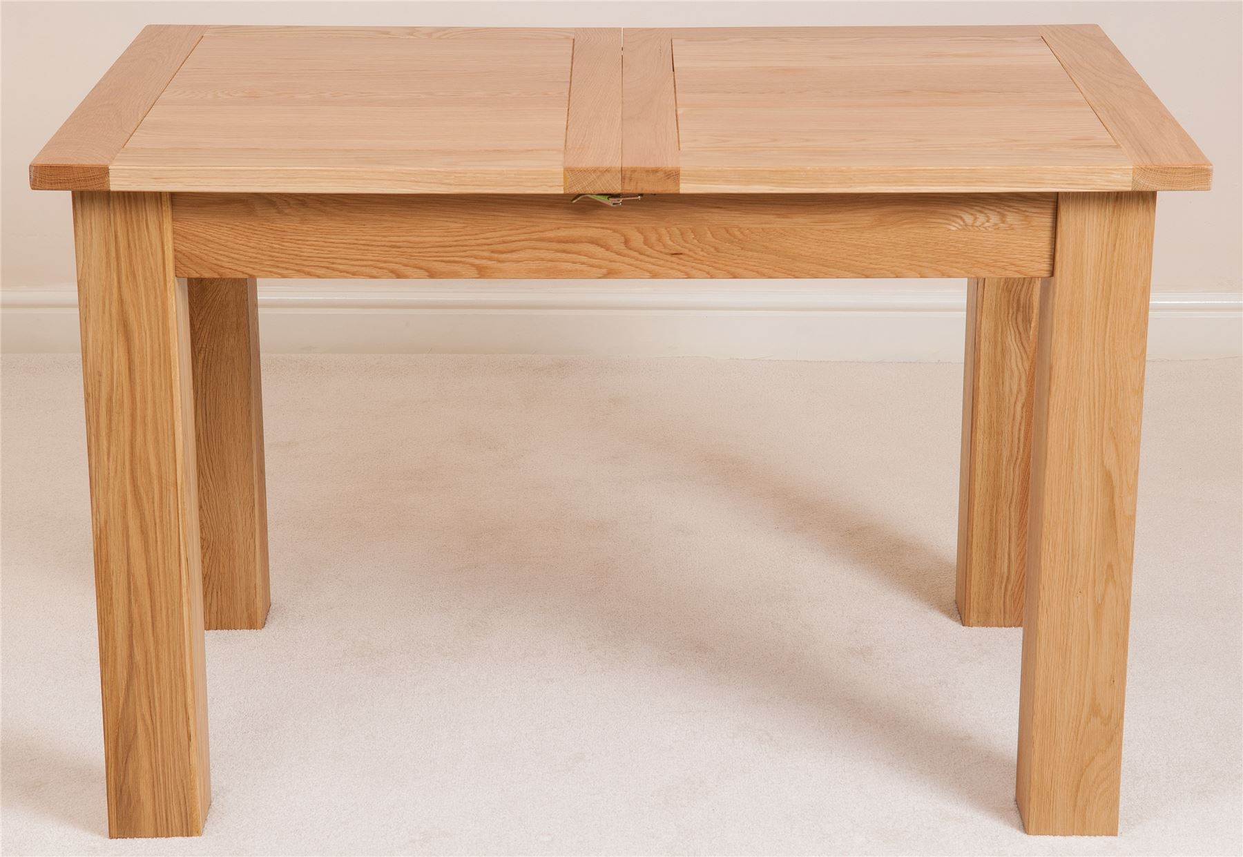 Hampton solid oak wood medium 120cm extending table wooden for 120cm extending dining table