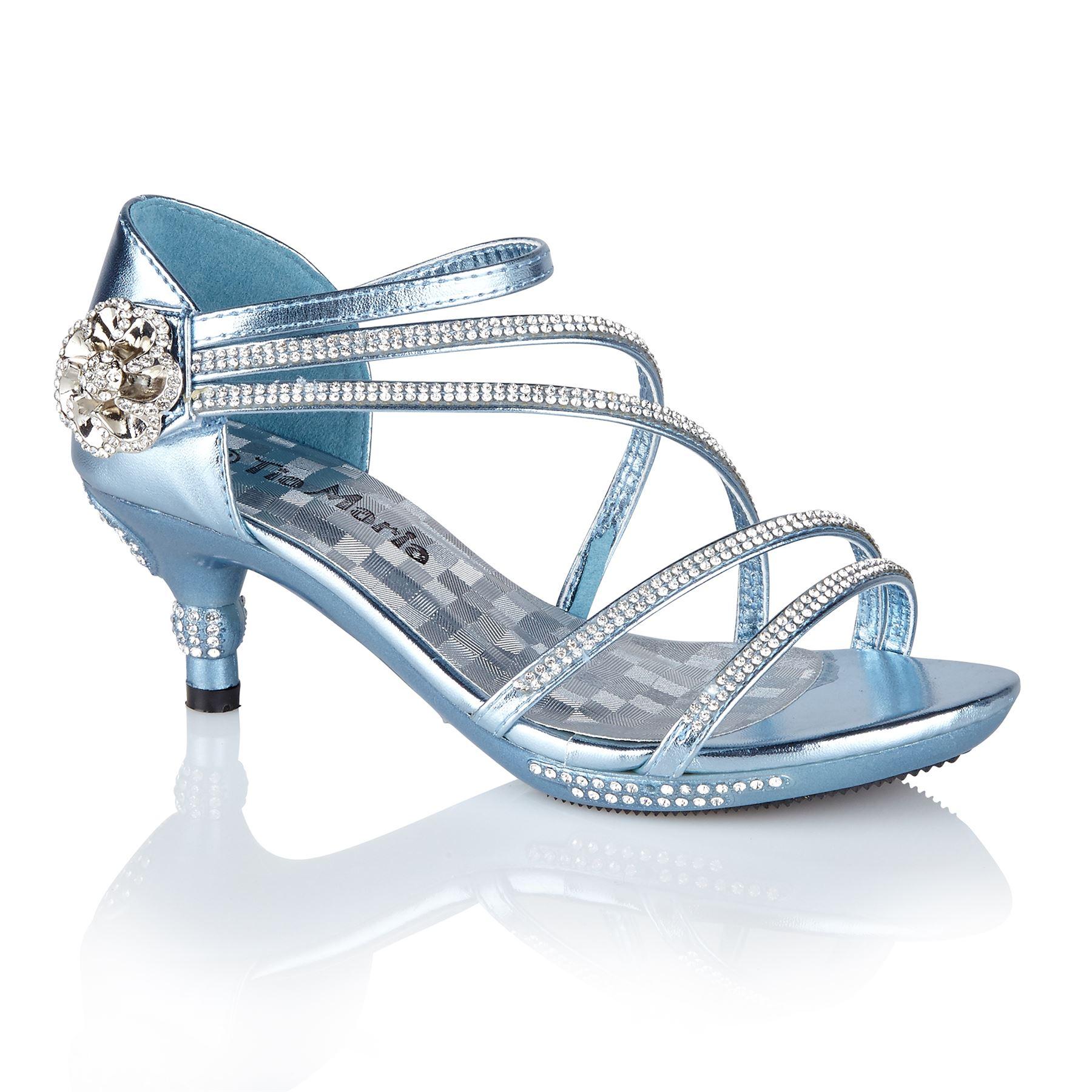 12 mid heel diamante wedding sandals